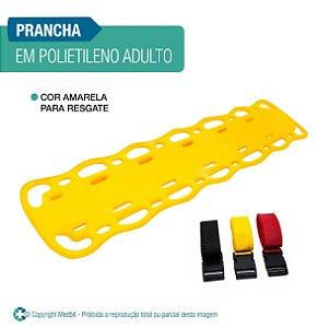 Prancha de Resgate em Polietileno Adulto com Cintos Amarela