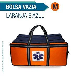 Bolsa Resgate Azul e Laranja Tamanho M - vazia