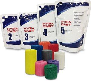 Atadura Gessada Sintética Hygia Cast 10cm - Cor Cinza