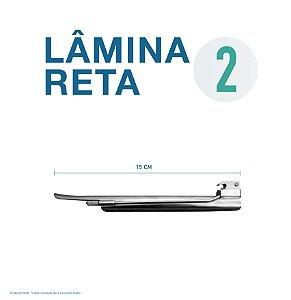 LAMINA LARINGO RETA CONVENCIONAL ACO INOX 2