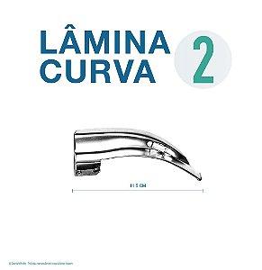 LAMINA LARINGO CURVA CONVENCIONAL ACO INOX 2
