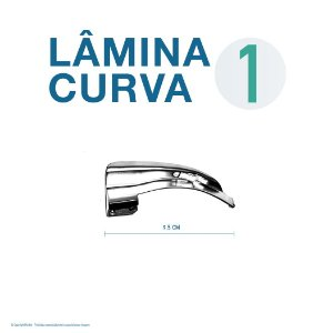 LAMINA LARINGO CURVA CONVENCIONAL ACO INOX 1