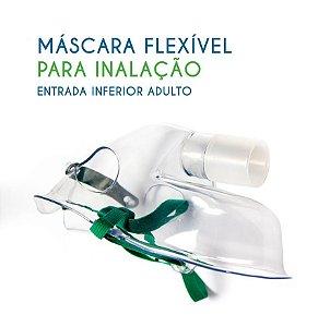 MÁSCARA FLEXÍVEL PARA INALAÇÃO COM ENTRADA INFERIOR ADULTO