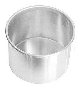 Forma Redonda de Alumínio para Bolo 15x10cm