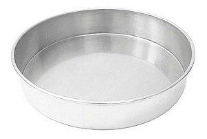 Forma Redonda de Alumínio para Bolo 20x5cm
