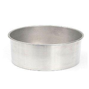Forma Redonda de Alumínio para Bolo 30x10cm