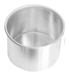 Forma Redonda de Alumínio para Bolo 17x10cm