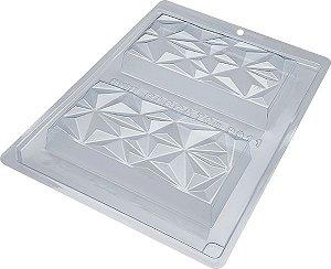 Forma  de Silicone Tablete barra Triângulo Bwb unidade
