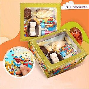 5 Caixas Páscoa 2021 Kit Confeiteiro Completo Infantil