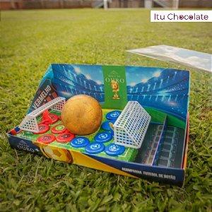 1 Caixa Ovo Páscoa Futebol + Brinquedo Futebol Botão