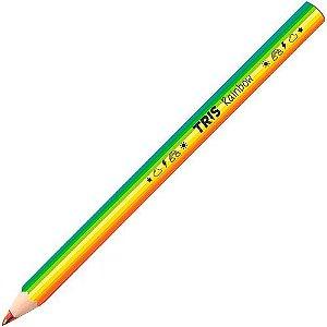 Lápis de Cor Jumbo Rainbow Multicor   Tris