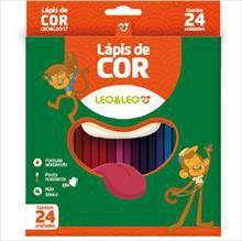 Lápis de cor sextavado 24 Cores | Leo & Leo