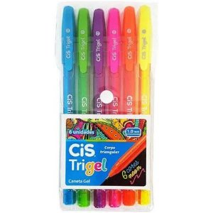 Caneta Trigel 1,0MM Neon 6 Cores | Cis