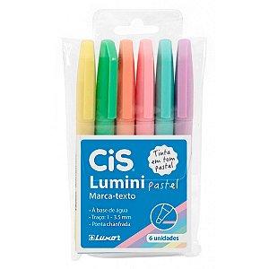 Marca Texto Lumini Pastel kit com 6 Cores Sortidas | CiS