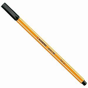 Caneta Hidrográfica Fine Point 88/46 - 0.4mm - Preta | Stabilo