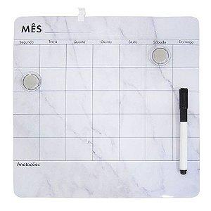 Lousa Magnética com Caneta Mensal 29,2cm x 29,2 cm | FWB