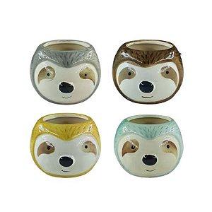 Vaso Decorativo Bicho-Preguiça de Porcelana Colors | Interponte