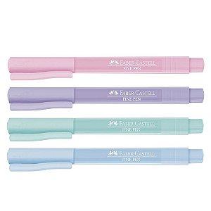 Caneta Fine Pen Colors 0,4 mm Kit com 4 Cores Tons Pastéis | Faber-Castell