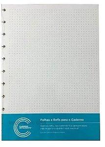 Folha e Refil Pontilhada | Caderno Inteligente