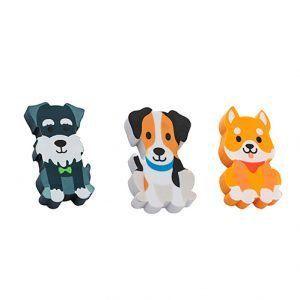 Borracha Decorada Atenção Cachorros Fofos com 3 unidades| Molin
