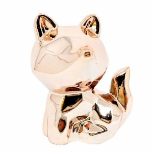 Enfeite porcelana raposa | Cores Variadas | Importado
