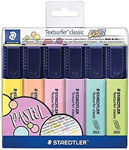 Marcador de Texto Textsurfer Classic 364 CWP6 6 Cores Pastel | Staedtler