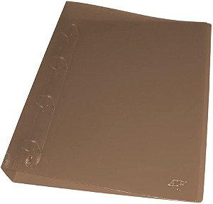 Fichário Universitário Transparente Cristal 365mm x342mmx45mm PVC Fumê  ACP