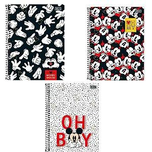 Caderno Universitário 80 folhas Mickey Mouse | Estampas Variadas | Tilibra