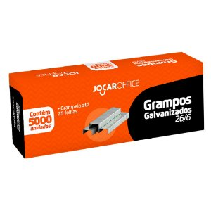 Grampo Galvanizado 26/6 com 5000 unidades | Jocar Office
