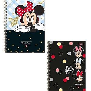 Caderno Espiral Capa Dura Universitário 1 Matéria Minnie Mouse 80 Folhas - Tamanho 1/4 - Sortido | Tilibra