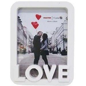 Porta Retrato Branco 10X15 Com Moldura De Plastico Love Vertical | FWB