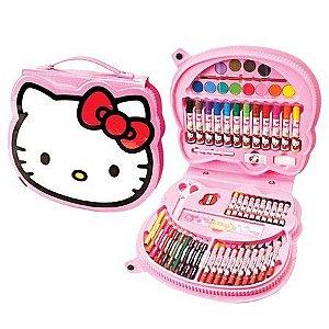 Maleta de Pintura Hello Kitty com 70 Itens | Molin