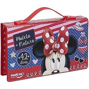 Maleta de Pintura Minnie Mouse 42 Itens | Molin