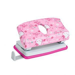 Perfurador 2 furos Hello Kitty Rosa   Molin