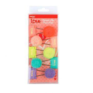 Binder Clips Love Pom Pom  32mm 5 unidades | Molin