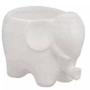 Vaso Mini Cachepot Elefante Branco | Importado