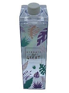 Garrafa Acrílica Milk Folhas - Hydrate Feel Great | Importada