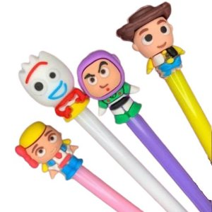 Kit de Canetas Toy Story com 4 Personagens: Garfinho,  Betty, Woody e Buzz | Importado