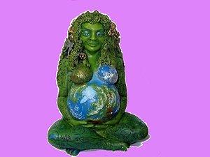 Imagem em Resina 25cm Deusa Gaia