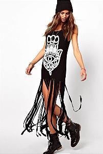 Vestido sex preto Fashion