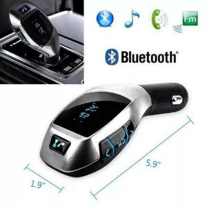 Transmissor Fm Bluetooth Veicular X6 Wireless Car Kit