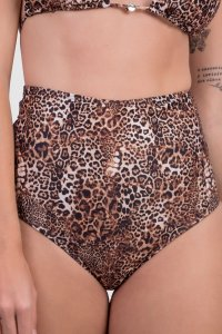 Biquíni Feminino Calcinha Hot Pant Animal Print Oncinha