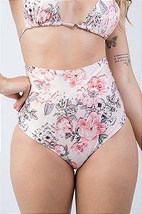 Biquíni Feminino Calcinha Hot Pant Floral Geométrica