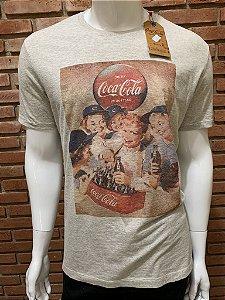 Camiseta Coca Cola - Cinza