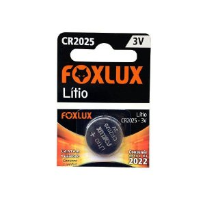Bateria de Lítio 3V CR2025 Foxlux 95.12