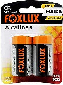 Pilha C Alcalina Foxlux com 2 unidades 95.05