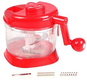 Processador manual de alimentos com 5 peças