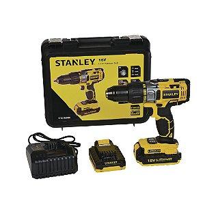 Parafusadeira/Furadeira 20V 1/2' com 2 Baterias Biv Stanley STDC18LHBK-BR
