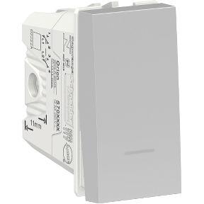 Interruptor Bipolar Paralelo 10A 250V Aluminium Schneider Orion S70110474