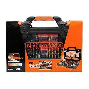 Jogo para Furar e Parafusar com 104 Peças Black & Decker A7230-XJ
